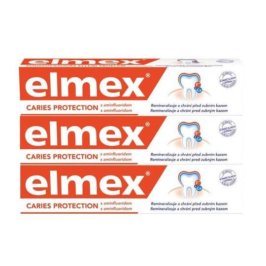 Elmex zubní pasta 3×75 ml