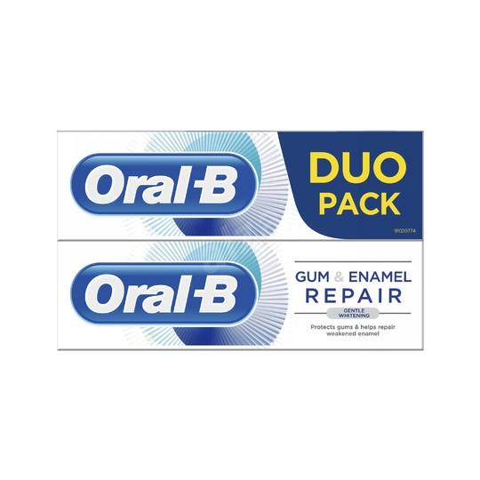 Oral-B Gum & Enamel Gentle Whitening zubní pasta 2x75 ml