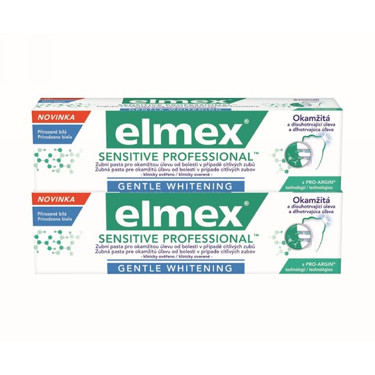 Elmex Sensitive Professional Whitening 2x 75 ml + Elmex 400 ml