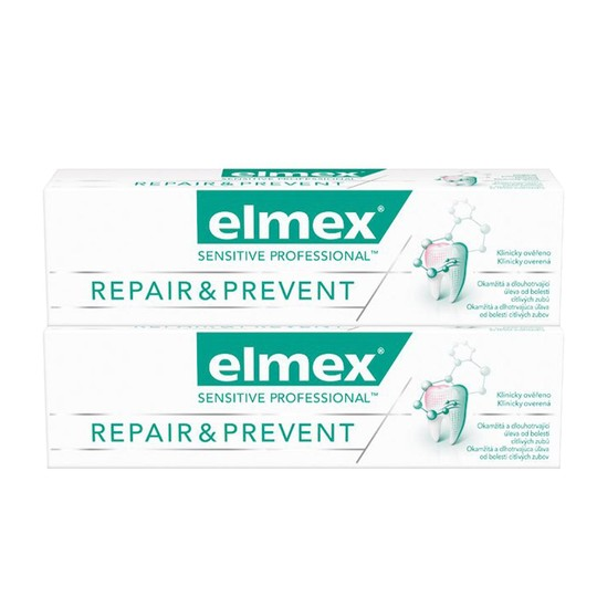 Elmex Sensitive Professional Repair & Prevent zubní pasta 2x75 ml