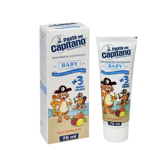 Pasta del Capitano Baby Tutti-Frutti dětská zubní pasta 75 ml