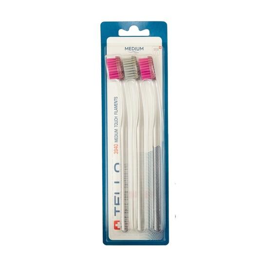 Tello 3940 Medium zubní kartáček 3 ks