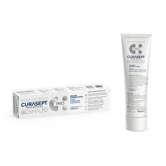 Curasept Biosmalto Mousse Caries Abrasion&Erosion Mint zubní pěna 50 ml