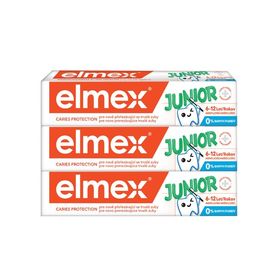 Elmex Junior zubní pasta 3x75 ml