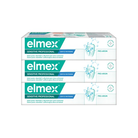 Elmex Sensitive Professional Whitening zubní pasta 3x75 ml