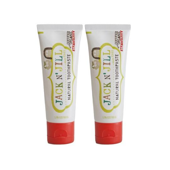 Jack N' Jill Organic Strawberry dětská zubní pasta 2x50 g