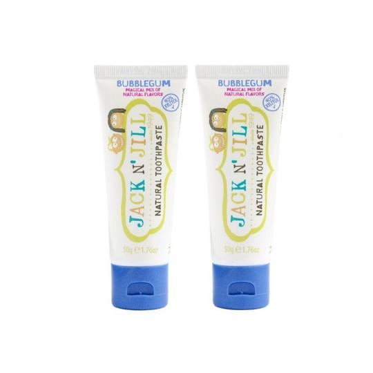 Jack N' Jill Organic Bubblegum dětská zubní pasta 2x50 g