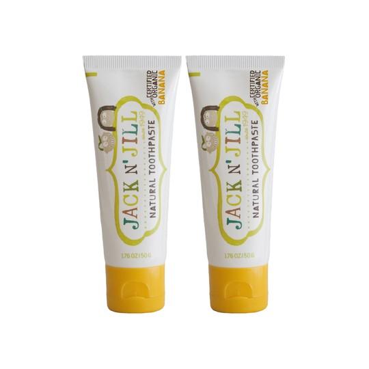 Jack N' Jill Organic Banana dětská zubní pasta 2x50 g