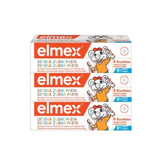 Elmex Kids dětská zubní pasta 3x50 ml