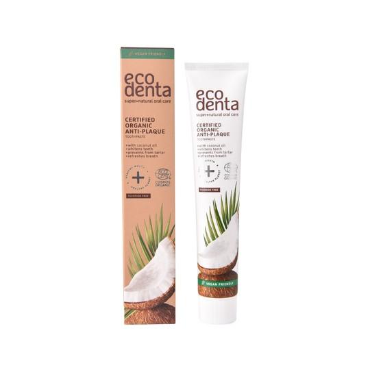 Ecodenta Organic Anti-Plaque Coconut Oil  zubní pasta 75 ml