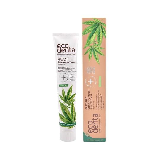 Ecodenta Organic Multifunctional Hemp Oil zubní pasta 75 ml