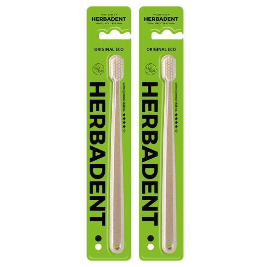 Herbadent Original Eco SuperSoft zubní kartáček 2 ks