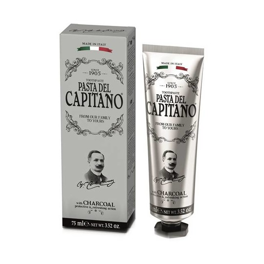 Pasta del Capitano Charcoal zubní pasta 75 ml