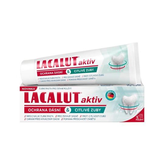 Lacalut Aktiv Gum Protect & Sensitive Teeth zubní pasta 75 ml