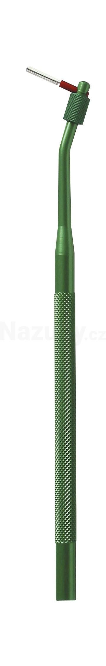 Fotografie Curaprox UHS 410 hliník. držák - zelený