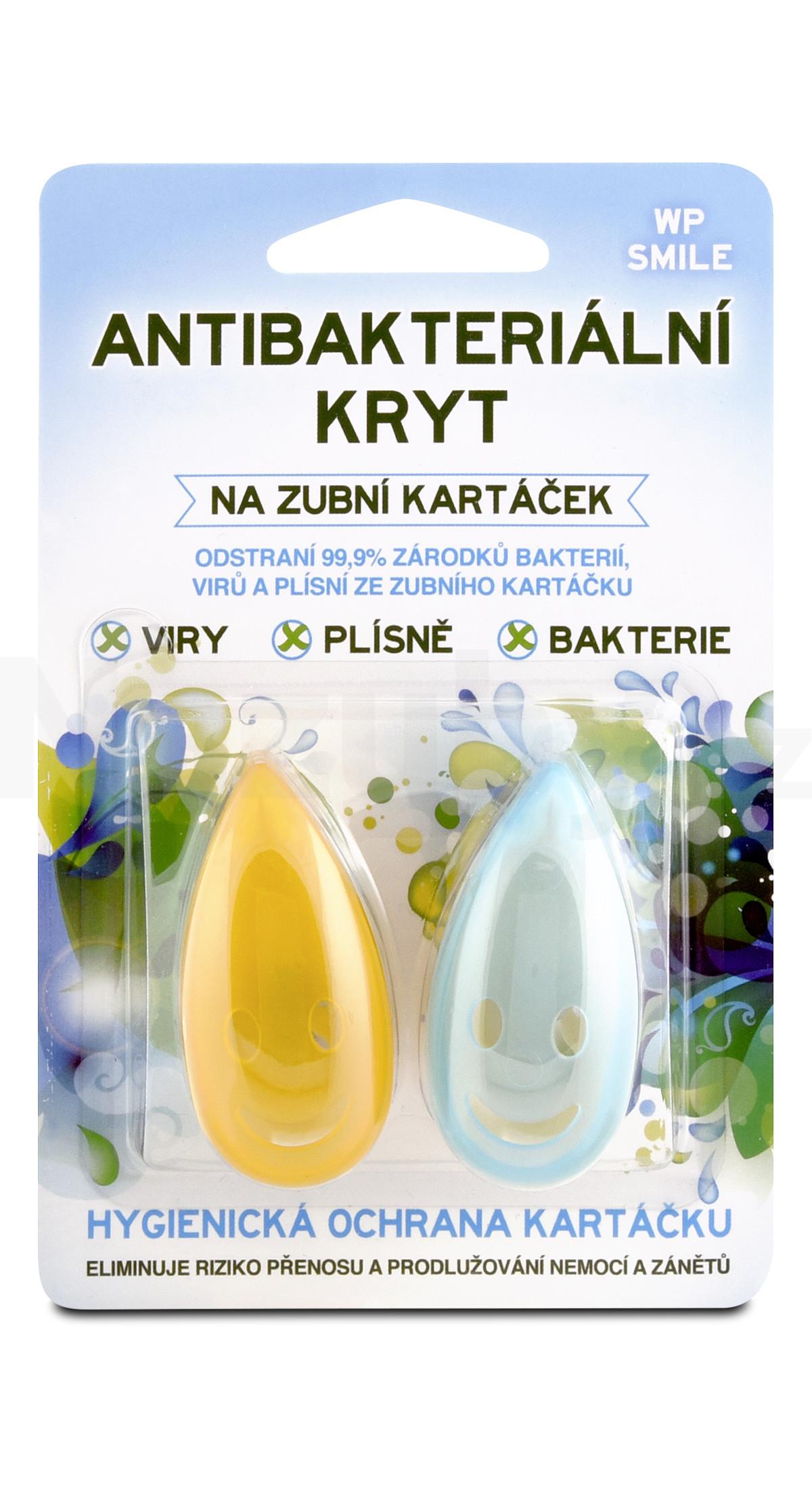 White Pearl Smile antibakteriální kryt na zubní kartáček 2ks