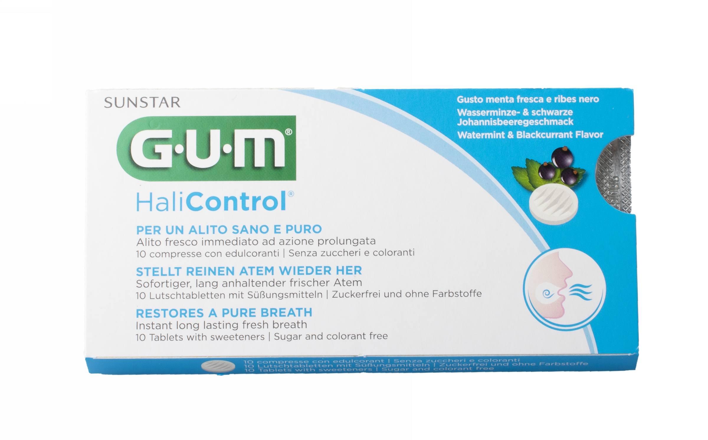 GUM HaliControl pastilky 10 ks