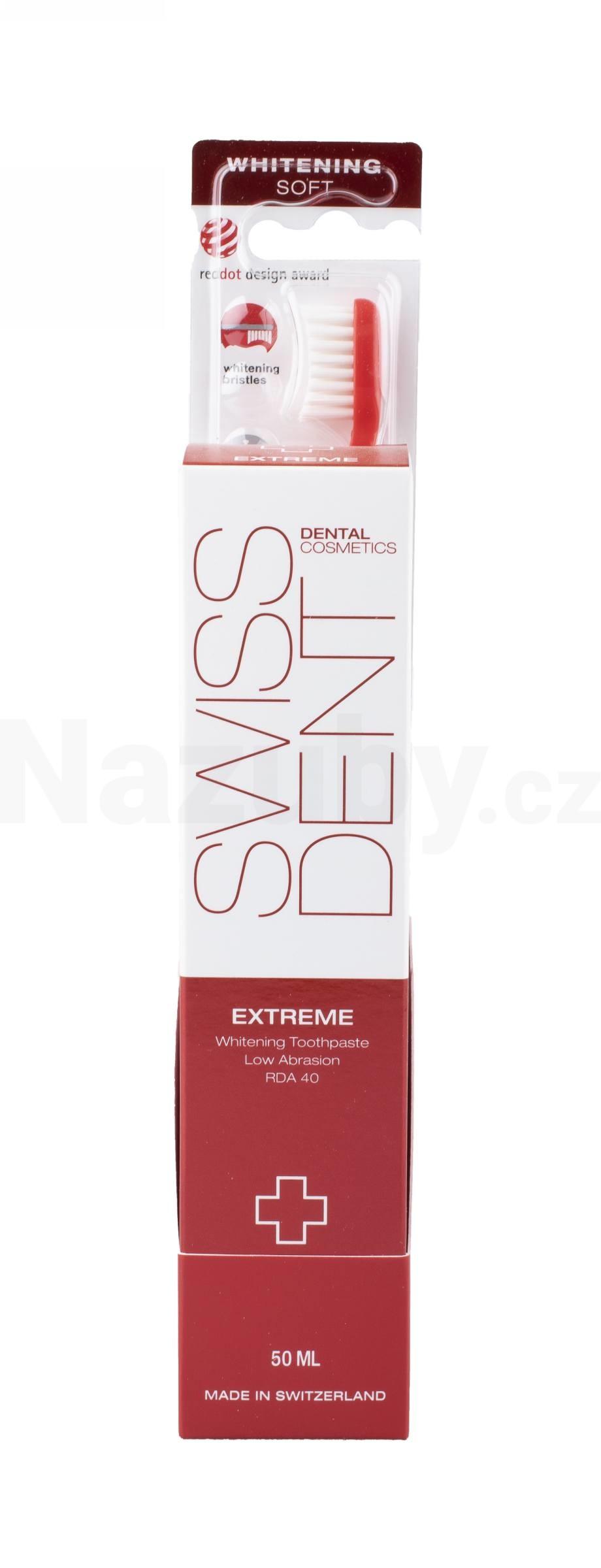 Swissdent sada DUO EXTREME (pasta 50 ml + zdarma Whitening kartáček ve stojánku)
