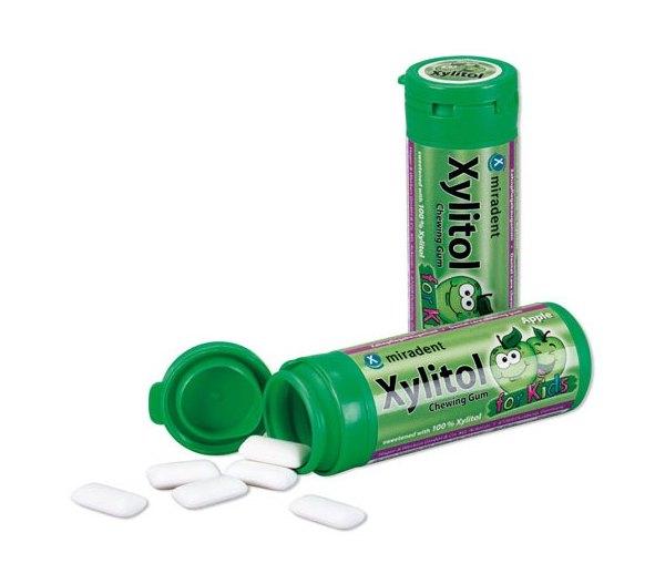 Miradent Xylitol DĚTSKÉ žvýkačky JABLKO 30 ks