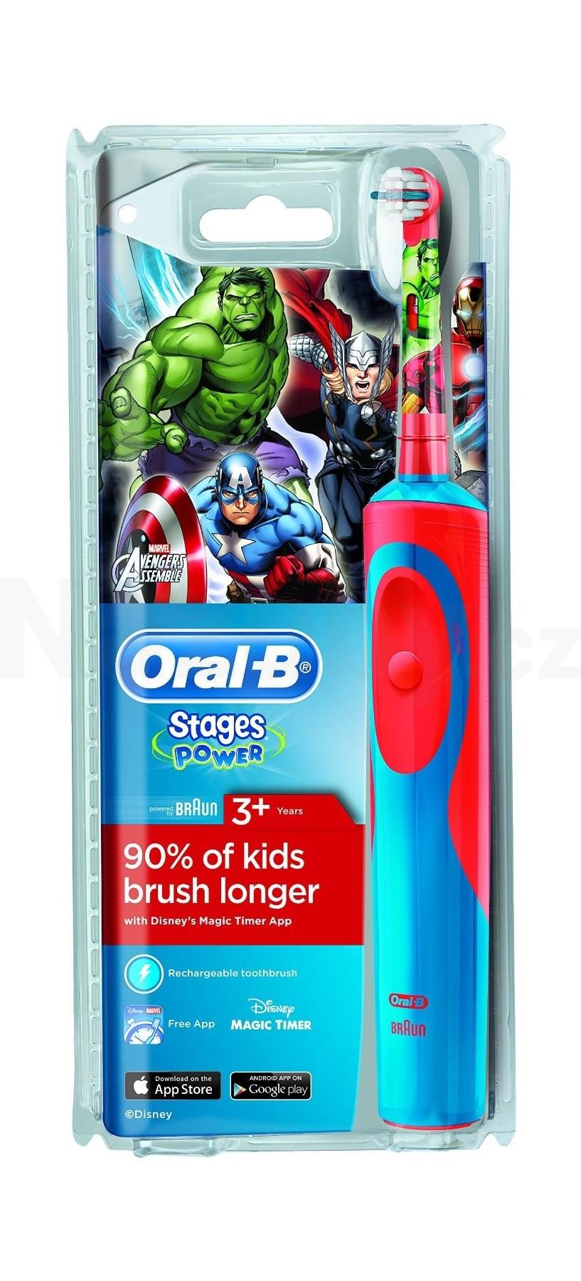 Oral-B Vitality Precision Clean D12.513 dětský motiv AVENGERS - akce 100 dní na vrácení zboží