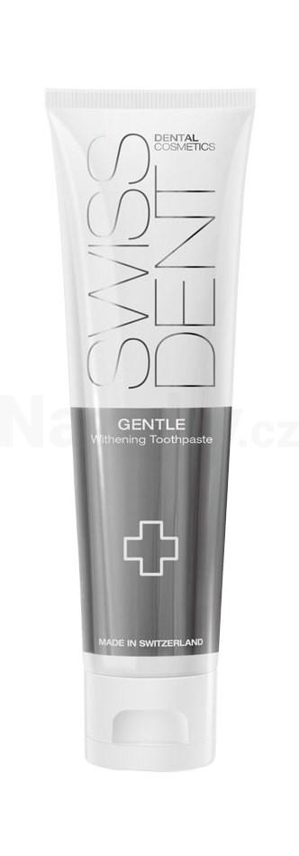 SWISSDENT Gentle bělící zubní pasta 100 ml + zubní kartáček Swissdent ZDARMA