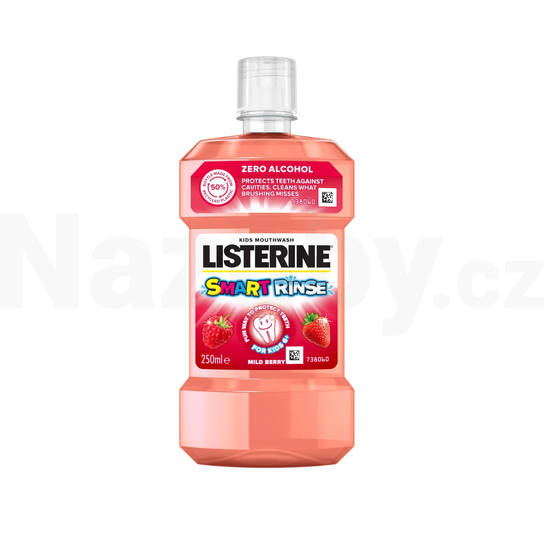 Fotografie Listerine Smart Rinse Berry ústní voda 250 ml pro děti od 6 do 12 let