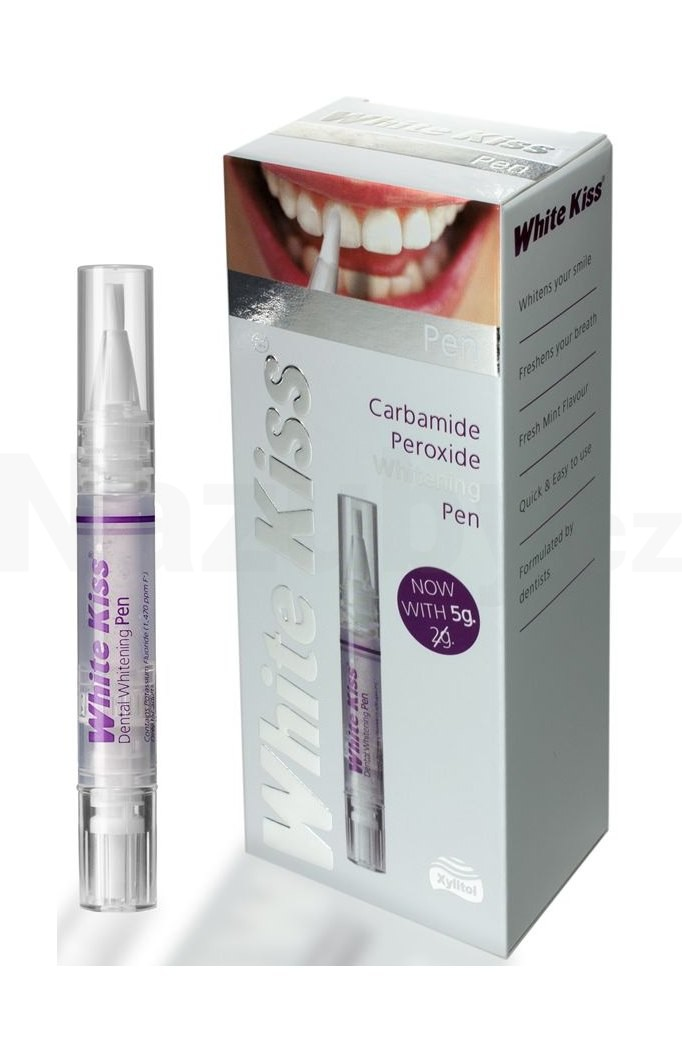 White Kiss Pen bělicí pero na zuby (Carbamide Peroxide Whitening Pen with Xylitol) 5 g