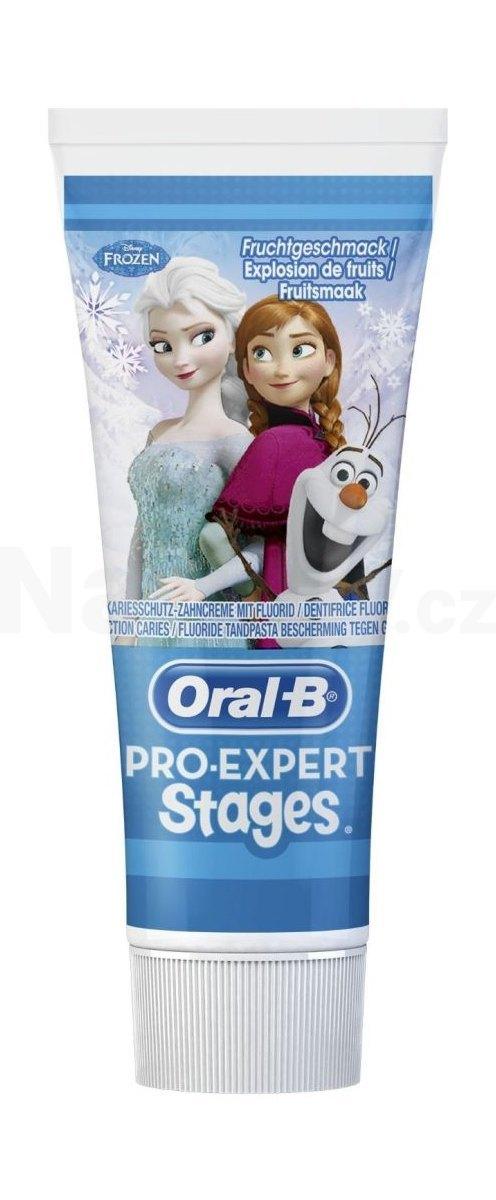 Fotografie Oral-B Pro Expert Stages Frozen dětská zubní pasta 75 ml