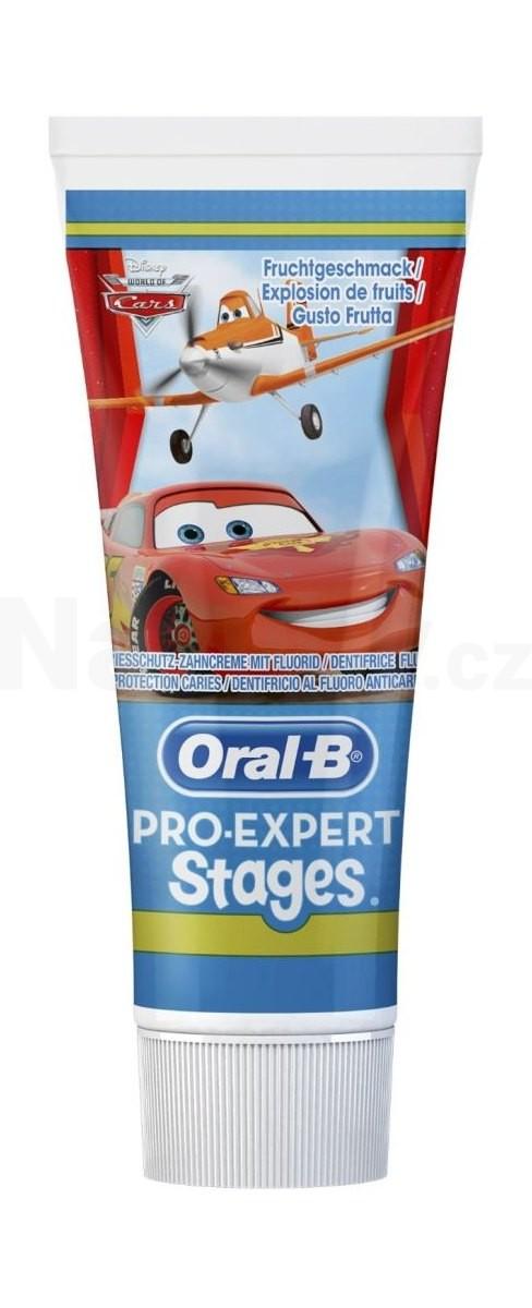 Oral-B Pro Expert Stages dětská zubní pasta 75 ml AUTA/PRINCENZY