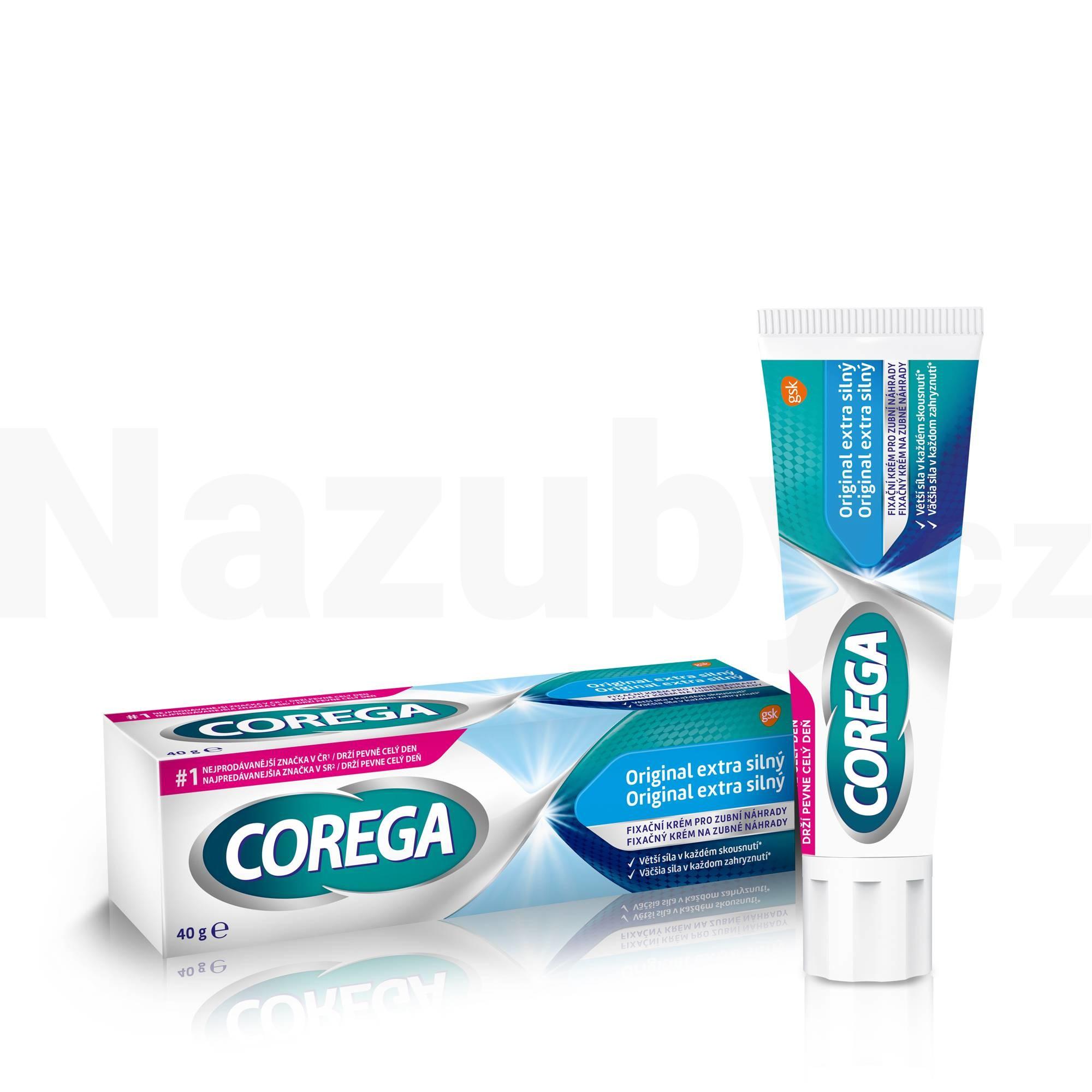 Corega fixační krém Extra silný svěží 40g