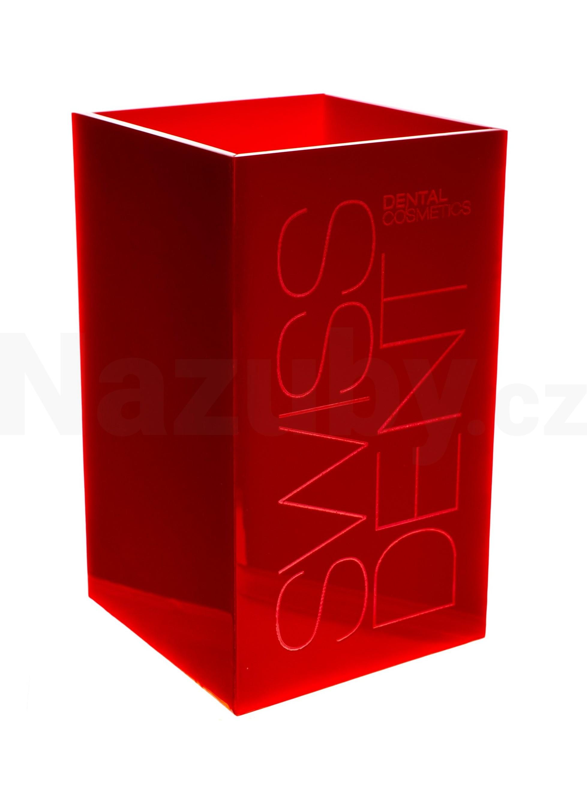 Swissdent stojánek na zubní kartáčky, červený