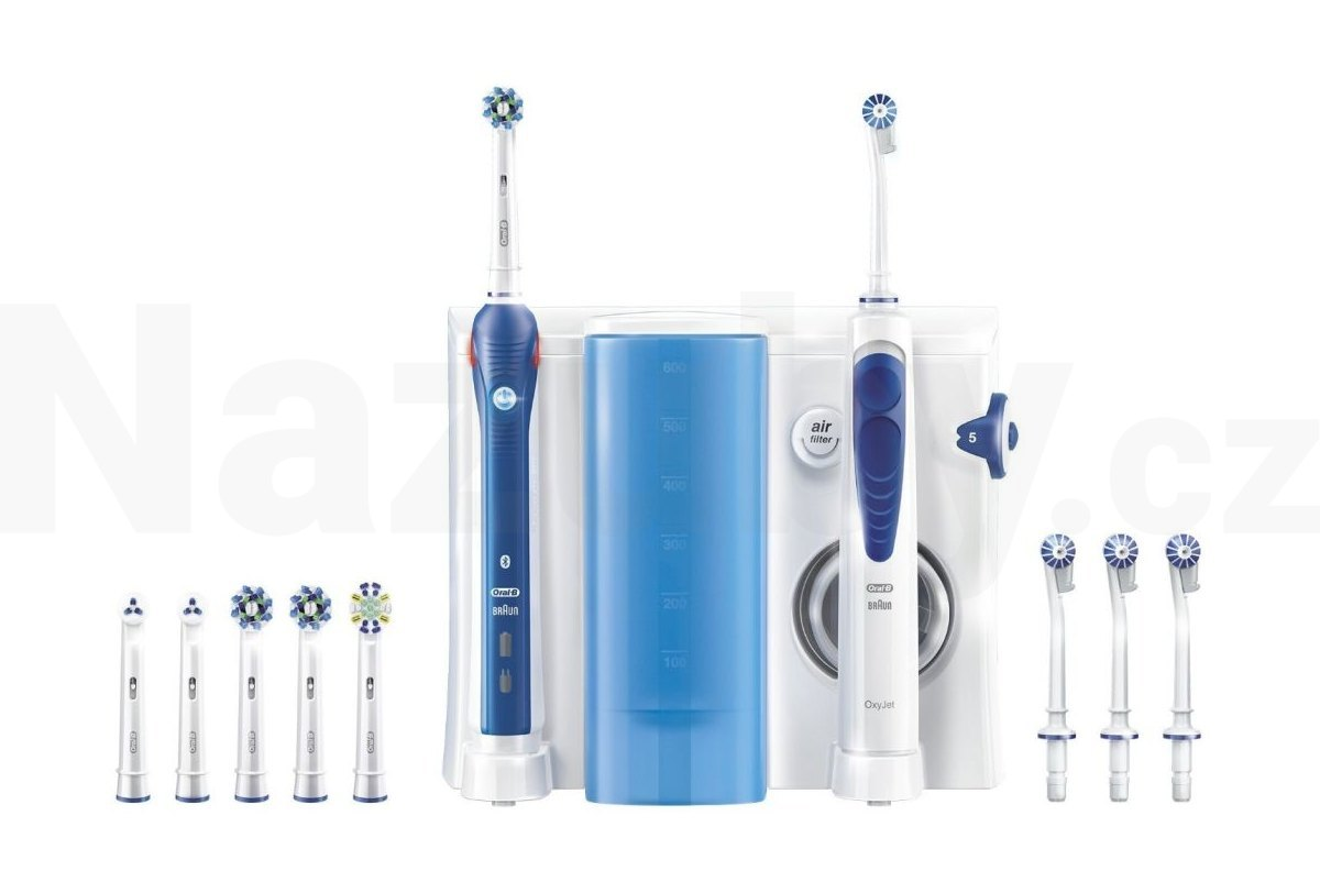 Oral-B Center OxyJet Oral Irrigator + PRO 5000 Smart - akce 100 dní na vrácení zboží
