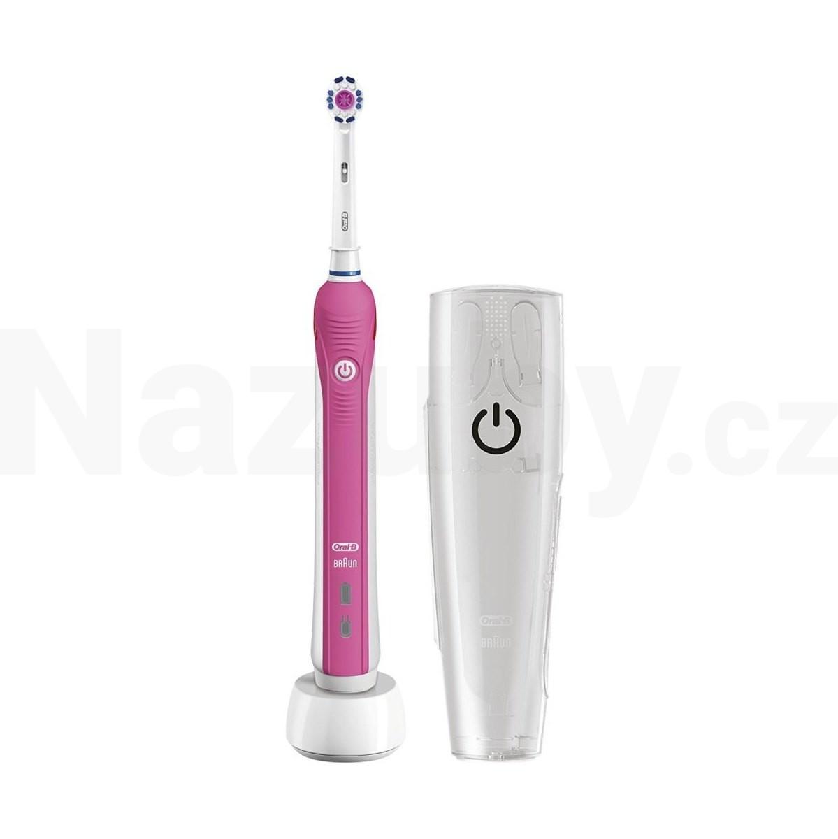 Braun Oral-B PRO 2500 D20 3D White PINK zubní kartáček