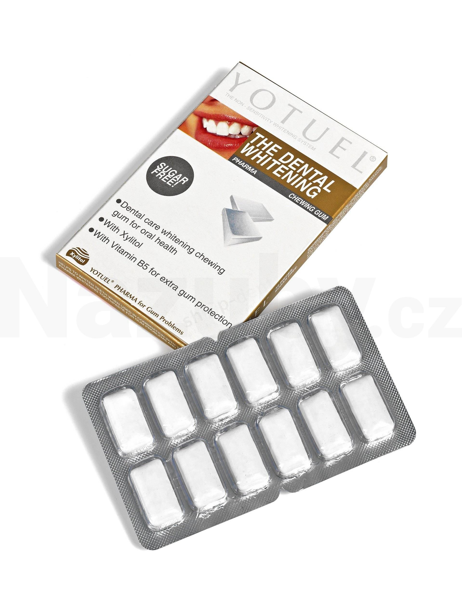 Fotografie Yotuel Bělící dentální žvýkačky Pharma 12ks