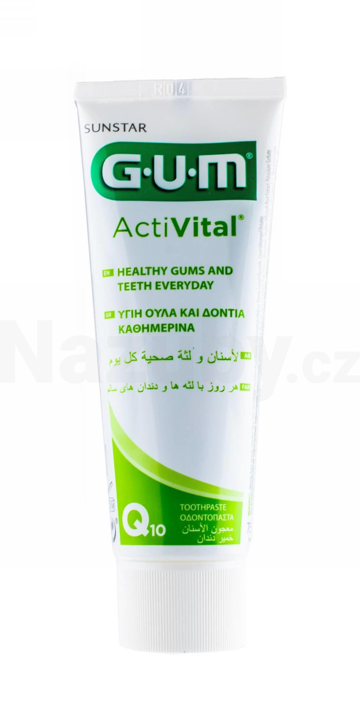 GUM ActiVital zubní pasta 75 ml