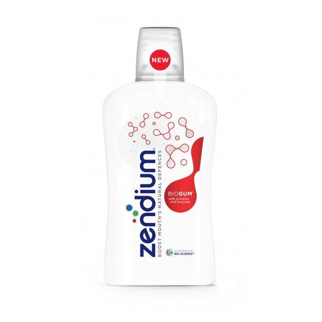 Fotografie Zendium BioGum ústní voda pro ochranu zubů a dásní (With Proteins and Enzymes) 500 ml