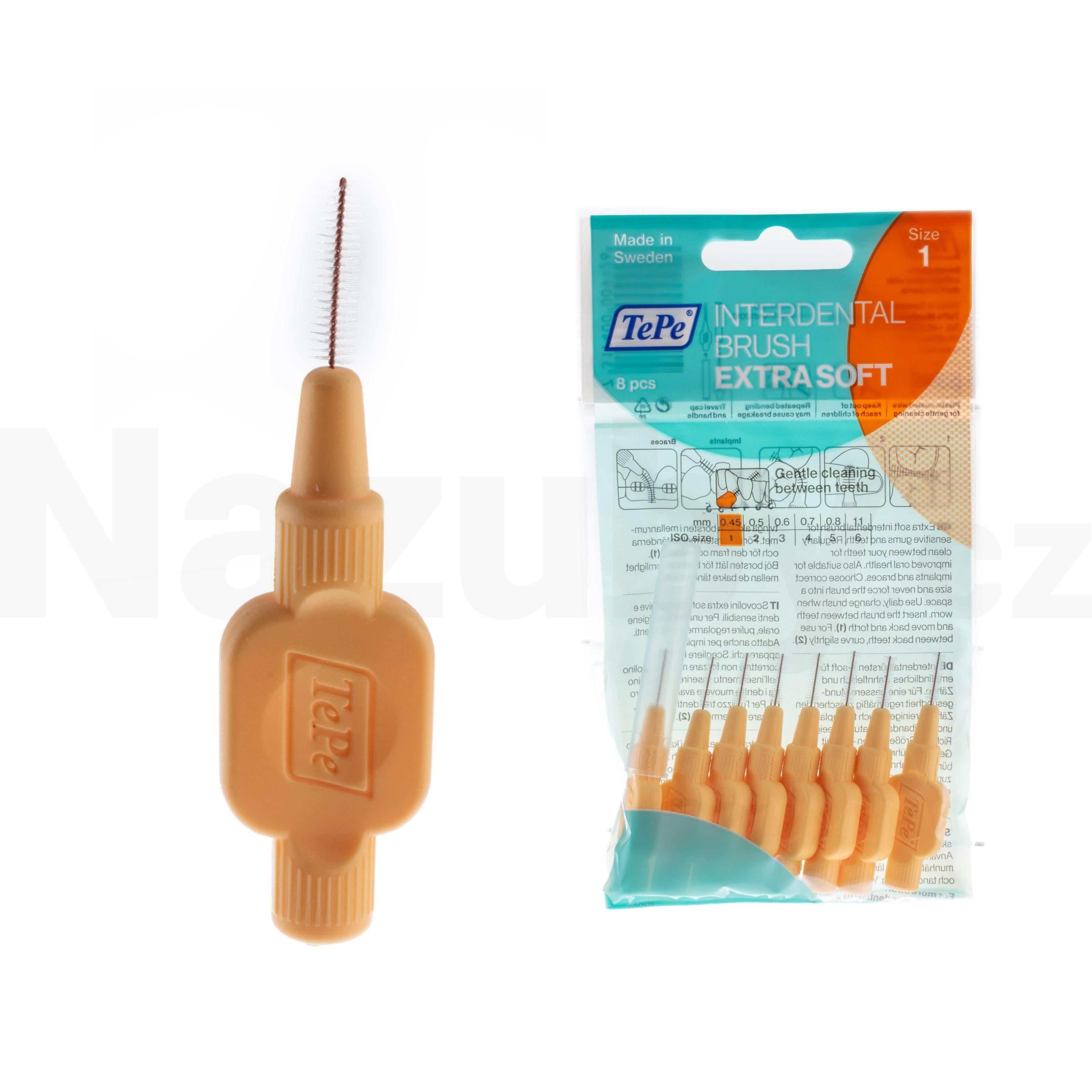 TePe SOFT mezizubní kartáčky (oranžové) 0,45mm, 8ks
