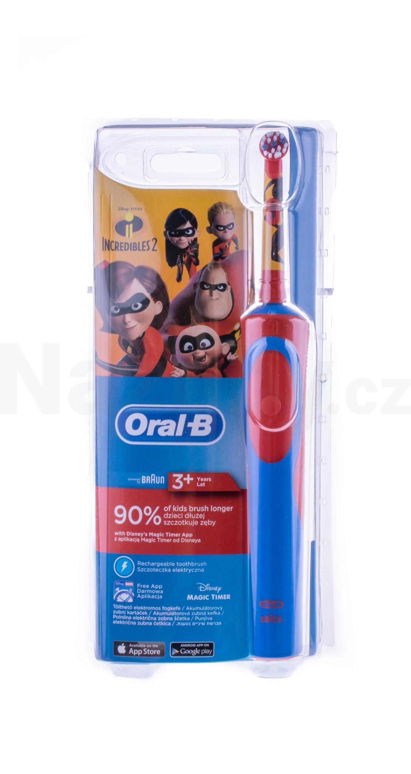 Braun Oral B Stages Power Kids 900 D12 zubní kartáček - INCREDIBLES