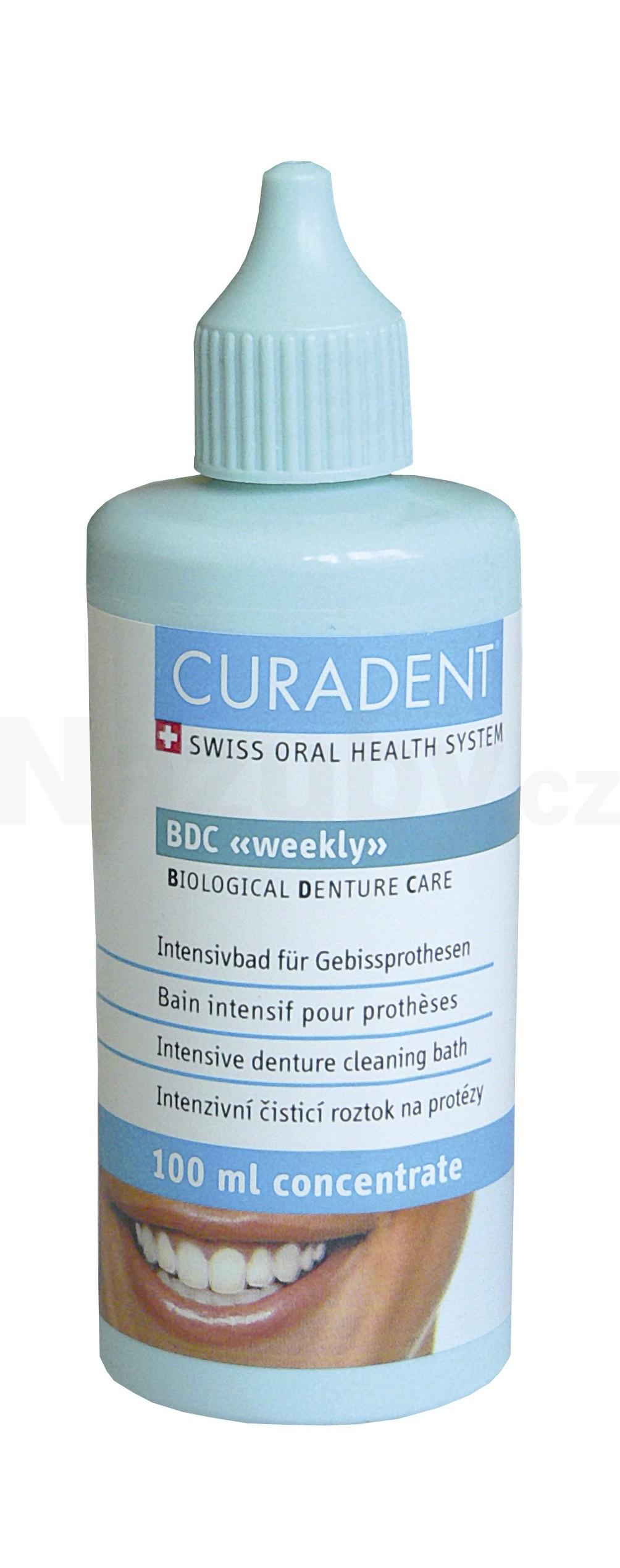 Curaprox BDC 105 čistící koncentrát pro umělý chrup 100 ml