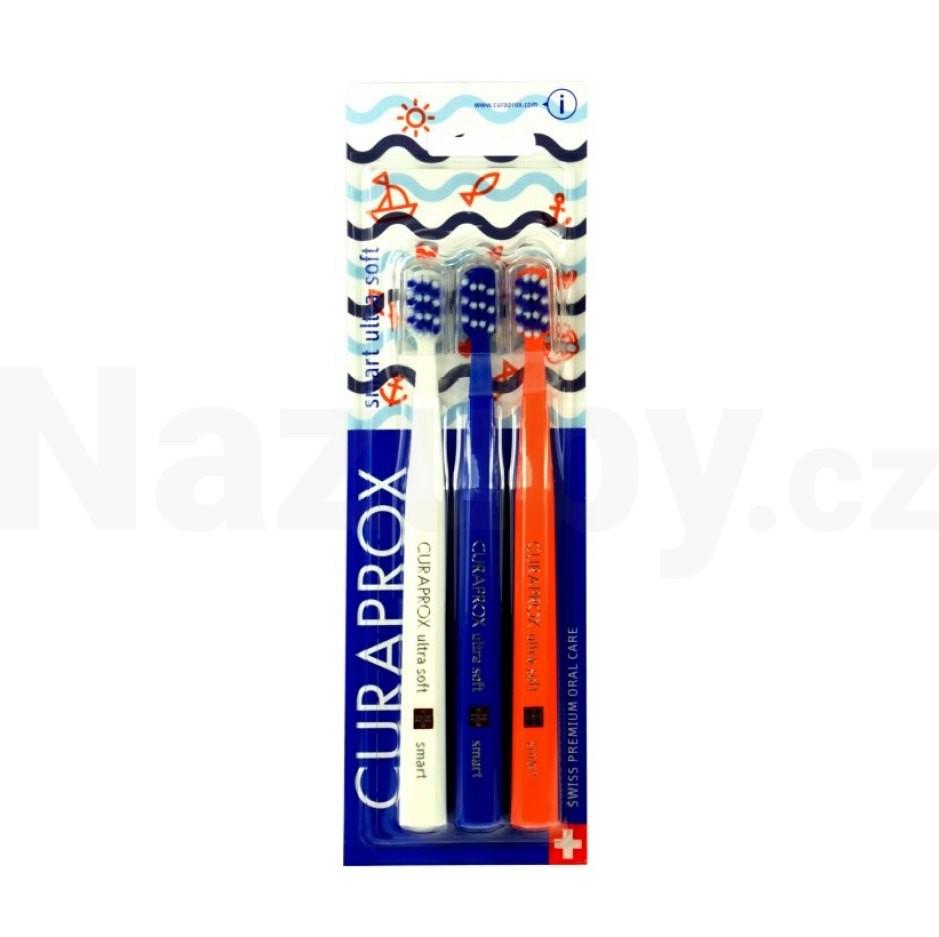 Curaprox CS 7600 Ultrasoft SMART zubní kartáček 3ks - 100 dní na vrácení zboží
