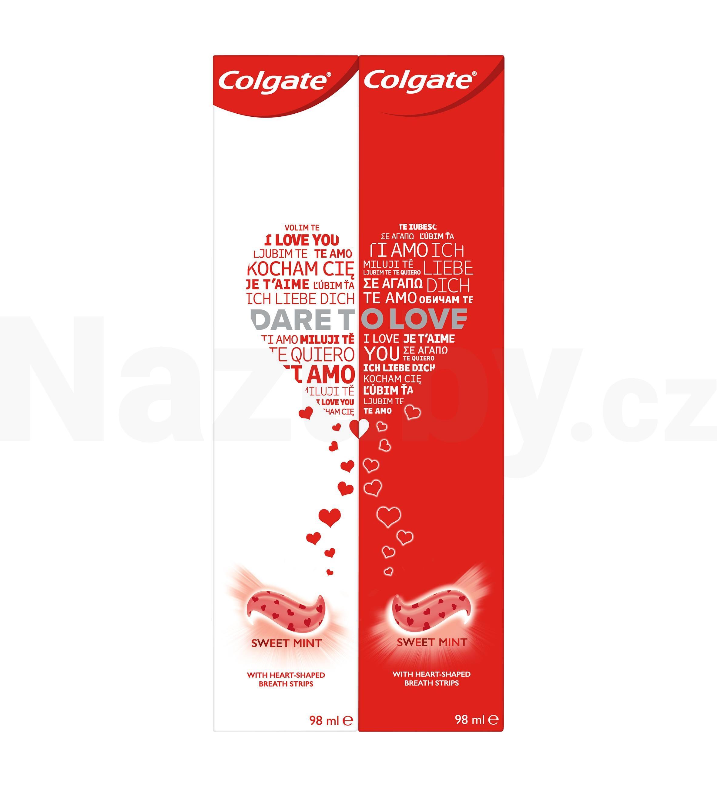 Colgate Dare To Love zubní pasta pro svěží dech Sweet Mint 2 x 98 ml