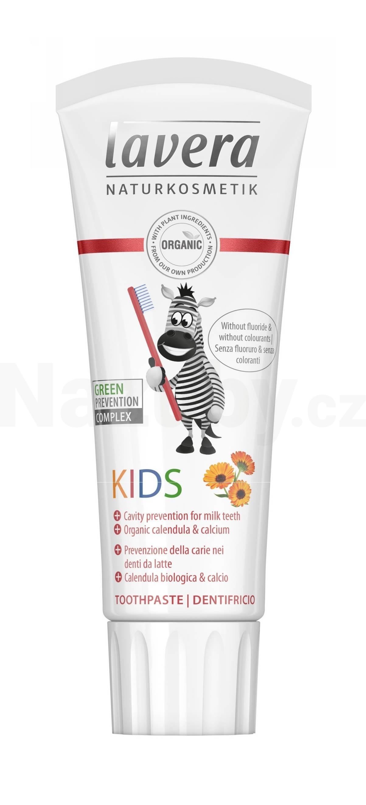 Lavera Dětská zubní pasta bez fluoridu 75 ml