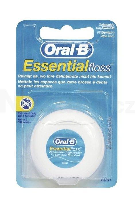 Oral-B EssentialFloss zubní nit 50 m - nevoskovaná