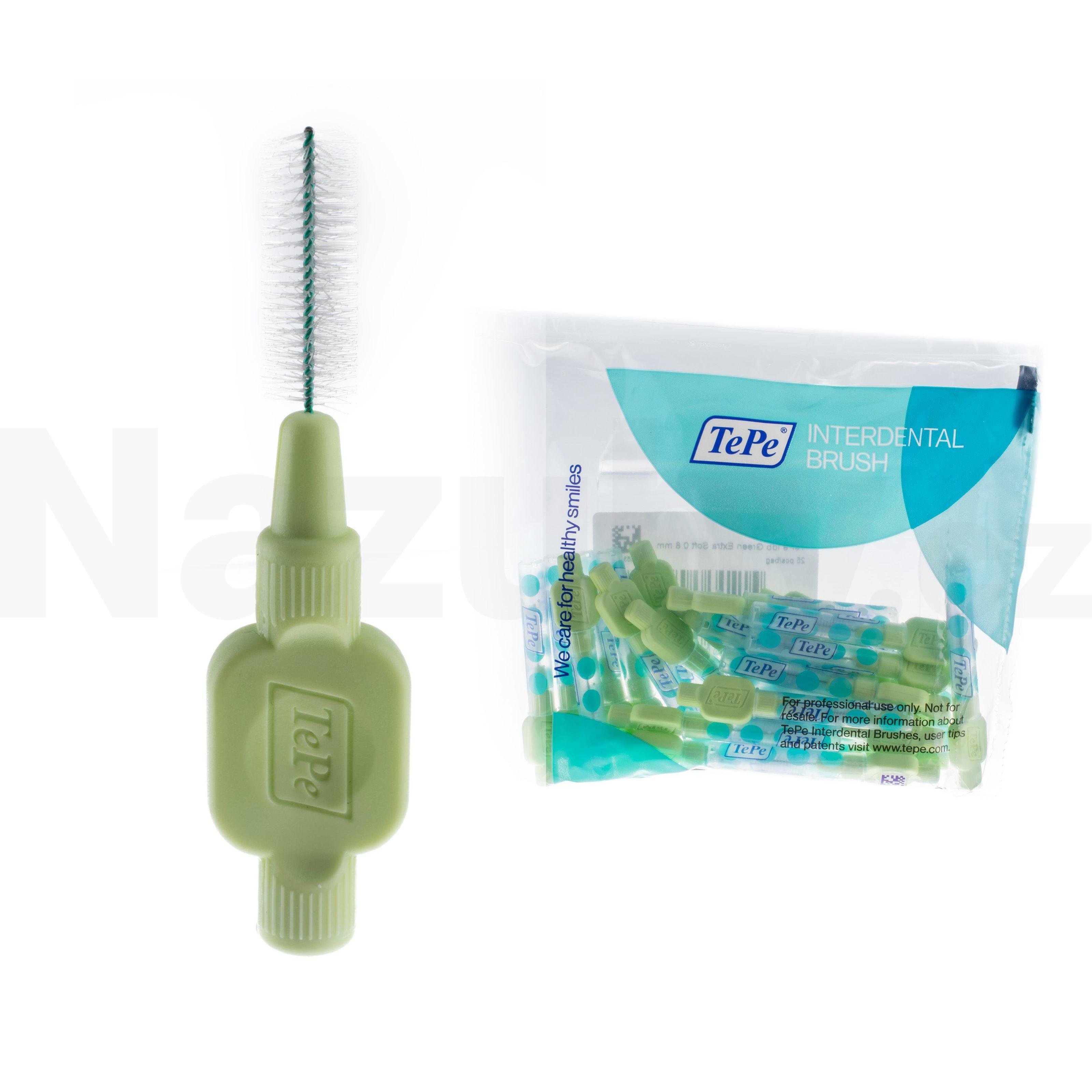 TePe MK 0,8 Extra soft světle zelené 25 ks