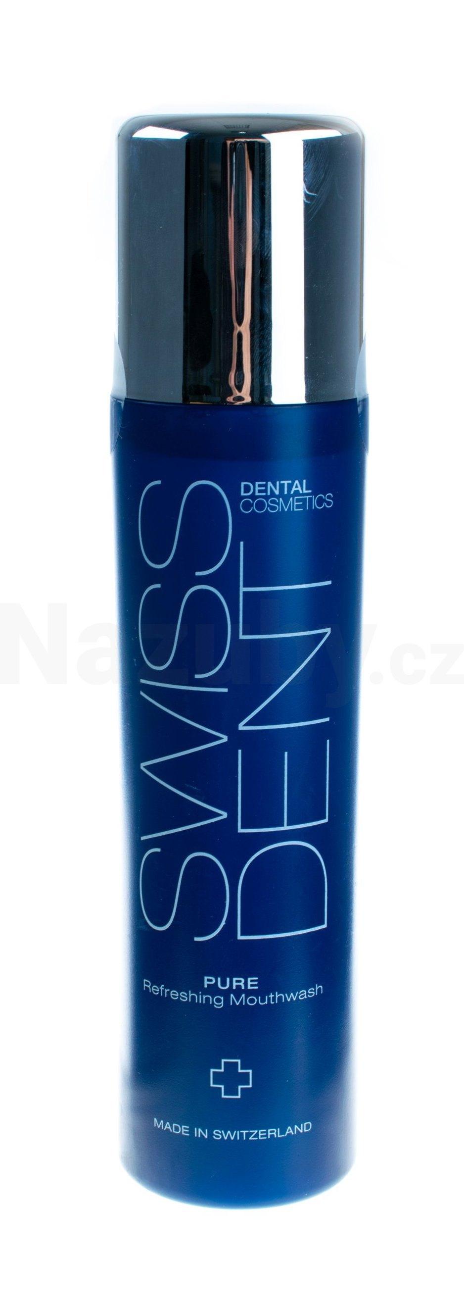 Fotografie Swissdent ústní voda pro dlouhotrvající svěží dech Pure 300 ml